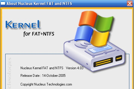 Phần mềm Nucleus Kernel FAT and NTFS